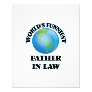 World's Funniest Father-in-Law 11.5 Cm X 14 Cm Flyer