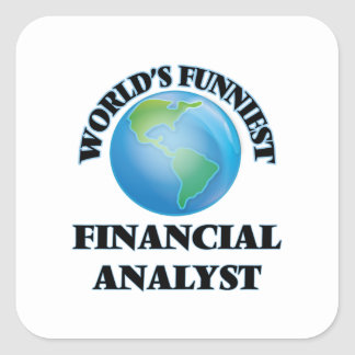 World's Funniest Financial Analyst Square Sticker