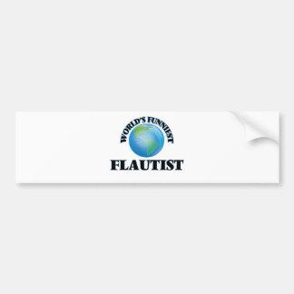 World's Funniest Flautist Bumper Sticker