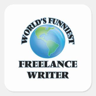 World's Funniest Freelance Writer Square Sticker
