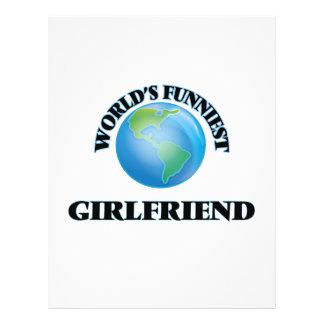 World's Funniest Girlfriend 21.5 Cm X 28 Cm Flyer