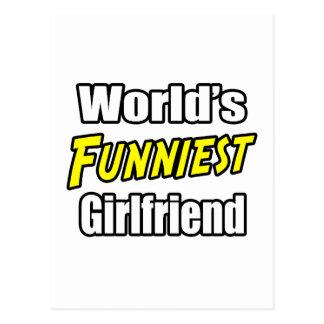 World's Funniest Girlfriend Postcard