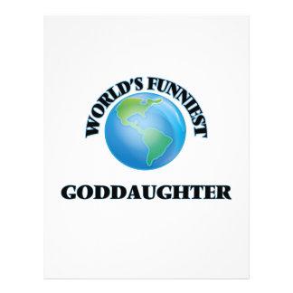 World's Funniest Goddaughter 21.5 Cm X 28 Cm Flyer