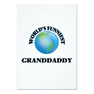 World's Funniest Granddaddy 9 Cm X 13 Cm Invitation Card