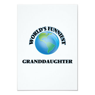 World's Funniest Granddaughter 9 Cm X 13 Cm Invitation Card