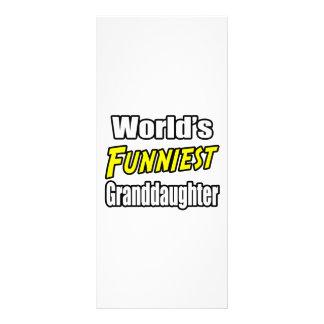 World's Funniest Granddaughter Rack Card Design