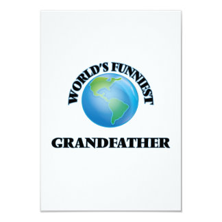 World's Funniest Grandfather 9 Cm X 13 Cm Invitation Card