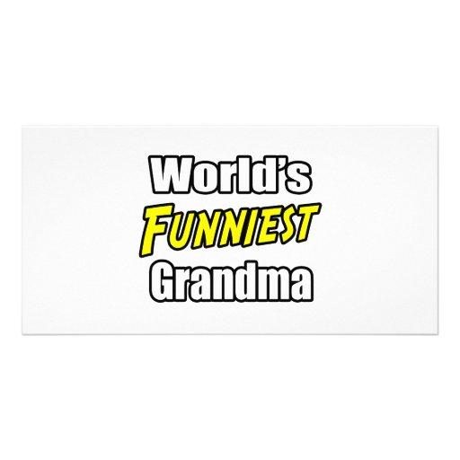 World's Funniest Grandma Picture Card