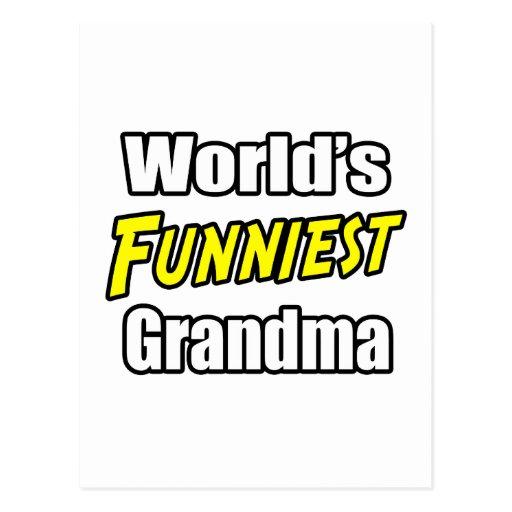 World's Funniest Grandma Post Card