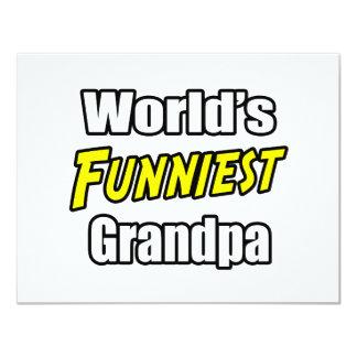 World's Funniest Grandpa 11 Cm X 14 Cm Invitation Card