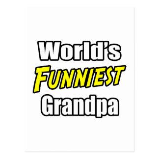 World's Funniest Grandpa Postcard