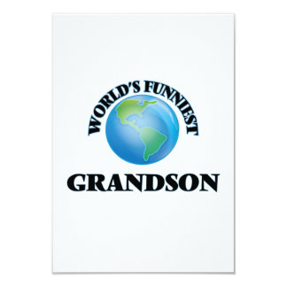 World's Funniest Grandson 9 Cm X 13 Cm Invitation Card