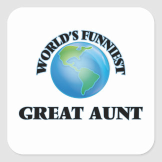 World's Funniest Great Aunt Square Sticker