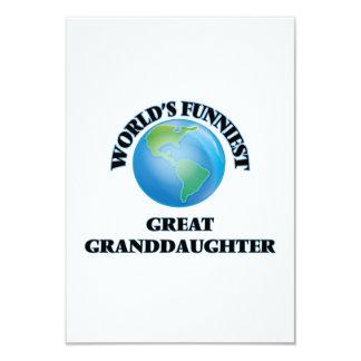 World's Funniest Great Granddaughter 9 Cm X 13 Cm Invitation Card