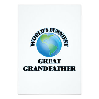 World's Funniest Great Grandfather 9 Cm X 13 Cm Invitation Card