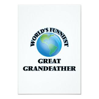 World's Funniest Great Grandfather 9 Cm X 13 Cm Invitation Card