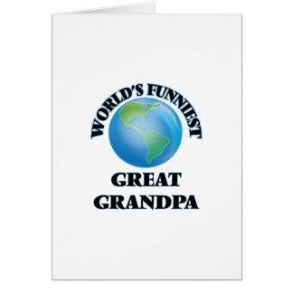 World's Funniest Great Grandpa Greeting Card