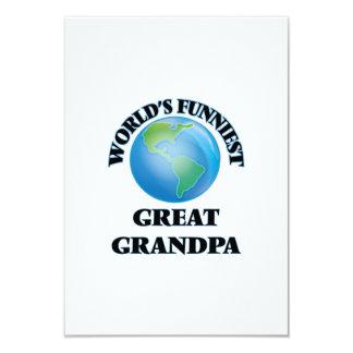 World's Funniest Great Grandpa 9 Cm X 13 Cm Invitation Card