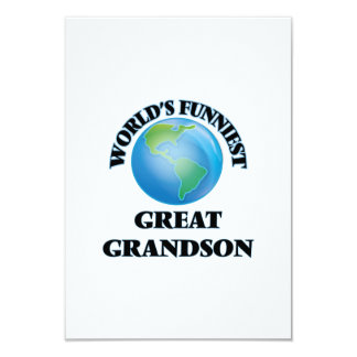 World's Funniest Great Grandson 9 Cm X 13 Cm Invitation Card