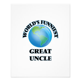 World's Funniest Great Uncle 11.5 Cm X 14 Cm Flyer