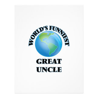 World's Funniest Great Uncle 21.5 Cm X 28 Cm Flyer