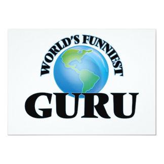 World's Funniest Guru 13 Cm X 18 Cm Invitation Card