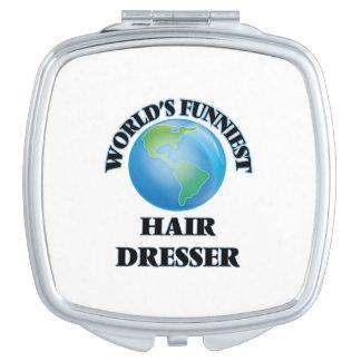 World's Funniest Hair Dresser Compact Mirror