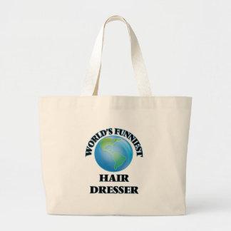 World's Funniest Hair Dresser Canvas Bag