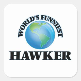 World's Funniest Hawker Square Sticker