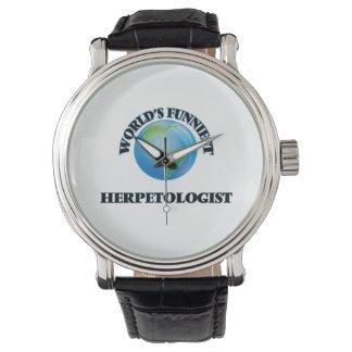 World's Funniest Herpetologist Wrist Watch