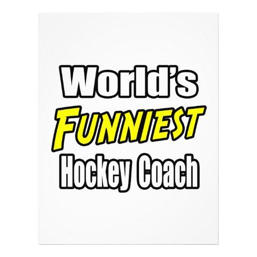 World's Funniest Hockey Coach Full Color Flyer