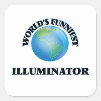 World's Funniest Illuminator Square Sticker