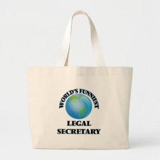 World's Funniest Legal Secretary Canvas Bags