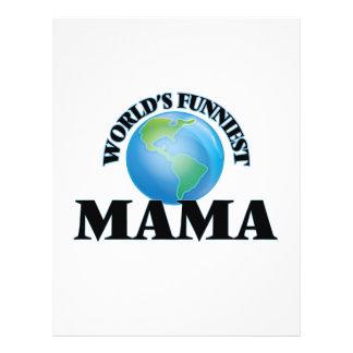 World's Funniest Mama 21.5 Cm X 28 Cm Flyer
