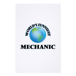 World's Funniest Mechanic Stationery