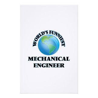 World's Funniest Mechanical Engineer Personalized Stationery