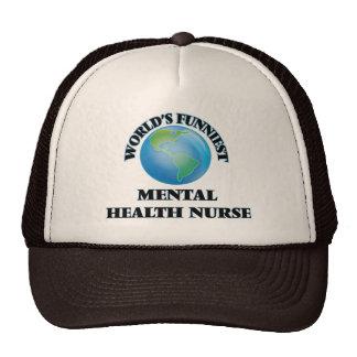World's Funniest Mental Health Nurse Mesh Hats