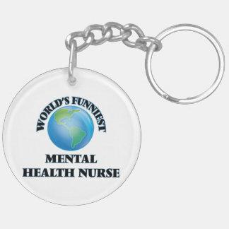 World's Funniest Mental Health Nurse Acrylic Keychain