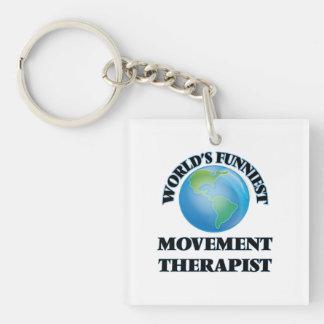 World's Funniest Movement Therapist Square Acrylic Keychain