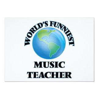 "World's Funniest Music Teacher 5"" X 7"" Invitation Card"