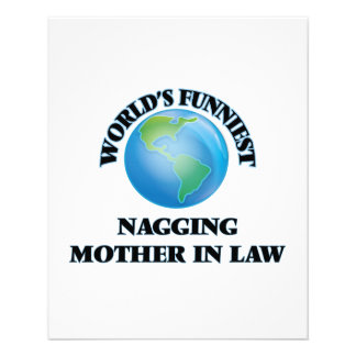 World's Funniest Nagging Mother-in-Law 11.5 Cm X 14 Cm Flyer
