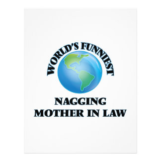 World's Funniest Nagging Mother-in-Law 21.5 Cm X 28 Cm Flyer