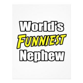 World's Funniest Nephew Flyer