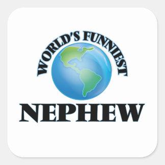 World's Funniest Nephew Square Sticker