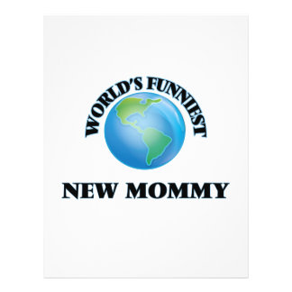 World's Funniest New Mommy 21.5 Cm X 28 Cm Flyer