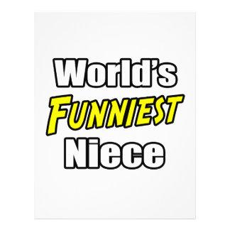 World's Funniest Niece Flyer Design