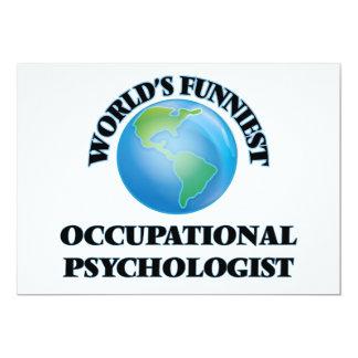 "World's Funniest Occupational Psychologist 5"" X 7"" Invitation Card"