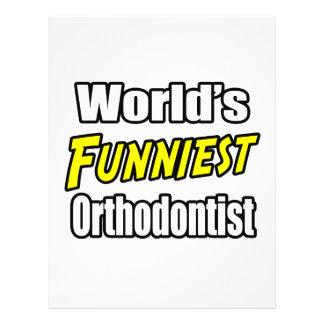 World's Funniest Orthodontist Flyer Design