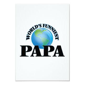 World's Funniest Papa 9 Cm X 13 Cm Invitation Card