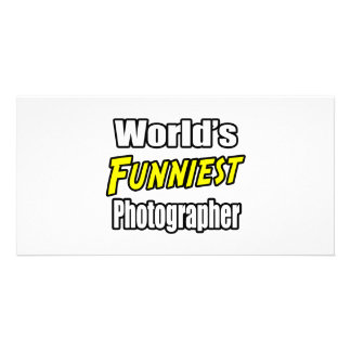 World's Funniest Photographer Personalized Photo Card